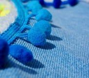 Textur för bakgrund för jeanstappning materiell Fotografering för Bildbyråer