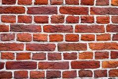 Textur för bakgrund för vägg för röd tegelsten för tappning Verklig tegelstenvägg Arkivbilder
