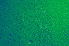 Textur för bakgrund för vattendroppar grön Royaltyfri Foto