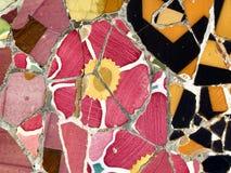 textur för bakgrundsblommamosaik Royaltyfria Foton
