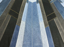 Textur för bakgrundsgrov bomullstvillpatchwork Royaltyfri Bild