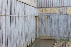 Textur för bambuväggbakgrund Royaltyfri Fotografi
