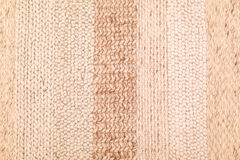 Textur för Biege handarbeteull Arkivbild
