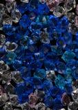 Textur för blå sten för akryl för vit crystal crystal Arkivbilder