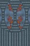 Textur för blått för jeansbroderiblommor royaltyfria foton