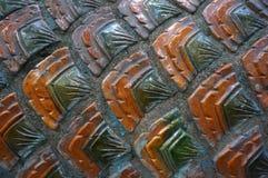 Textur för cementdrakehud Arkivbilder