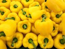 Textur för chilipeppar och paprikai korgen på marknaden, foto som tas av mobiltelefonkameran Arkivfoto