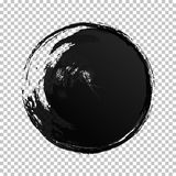 Textur för cirkel för vattenfärg för vektorhandattraktion vektor illustrationer