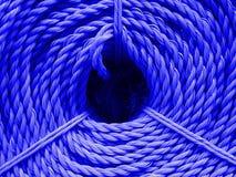 Textur för färgnylonrep Royaltyfri Foto