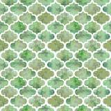 Textur för färgstänk för ljus för formabstrakt begrepp för tegelplattor lockig östlig geometrisk grunge färgrik, sömlös modelldes Arkivbild