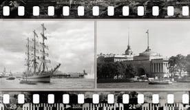 textur för foto för oväsen för bakgrundsfilmram Royaltyfri Foto