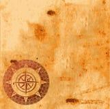 textur för gammalt papper för kompass rose Arkivbild