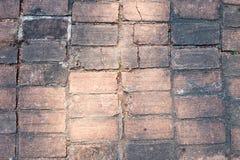 Textur för golv för förberedande sten för tegelstenkvarter fyrkantig design för formtrottoaruteplats Royaltyfri Bild