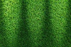 Textur för gräsfält för golfbana, fotbollfält eller design för sportbakgrundsbegrepp arkivfoto