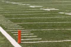 textur för green för gräs för bakgrundsfältfotboll Royaltyfria Foton