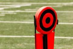 textur för green för gräs för bakgrundsfältfotboll Fotografering för Bildbyråer