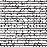 Textur för grunge för tegelstenvägg sömlös royaltyfri illustrationer