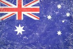 Textur för GrungeAustralien flagga på particleboard Royaltyfri Foto