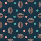 textur för härlig kokkonst för kaffe för bakgrundsbönor släkt vektor illustrationer