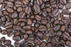 textur för härlig kokkonst för kaffe för bakgrundsbönor släkt Royaltyfri Fotografi