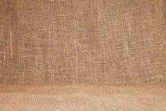 textur för hessian för bakgrundsburlapclose som material naturlig plundra använder upp Bakgrundstextur u arkivbild
