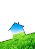 textur för hus för eco för begreppsdesign Vektor Illustrationer