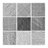 Textur för lucka för vektorsamlingsfärgpulver hand dragen Fotografering för Bildbyråer
