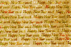 Textur för lyckligt nytt år 2016 för text pappers- Royaltyfri Bild