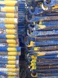 Textur för metallstålrör Arkivfoto