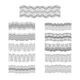Textur för modell för pengar för gravyr för Guillochevektorgränser fastställd royaltyfri illustrationer