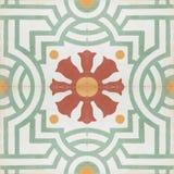 Textur för modell för tegelplatta för tappningstilgolv Royaltyfri Bild