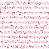 Textur för musikanmärkningsljud Arkivfoton