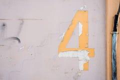 Textur för nummer 4 Arkivfoton