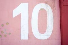 Textur för nummer 10 Arkivfoto