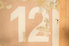 Textur för nummer 12 Royaltyfria Foton