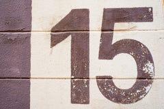 Textur för nummer 15 Arkivfoto