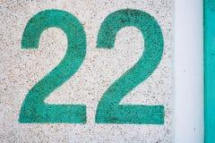 Textur för nummer 22 Royaltyfri Bild