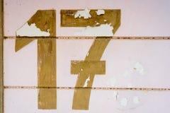 Textur för nummer 17 Arkivbild