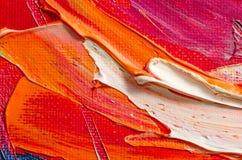 Textur för oljemålning Arkivbilder