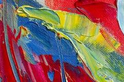 Textur för oljemålning Arkivbild