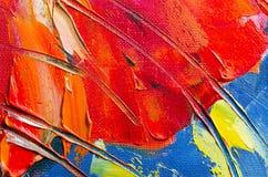 Textur för oljemålning Royaltyfria Foton
