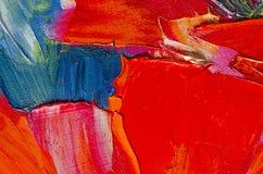 Textur för oljemålning Arkivfoto