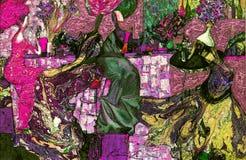textur för oljemålning Roman Nogin författare samtal för ` s för serie`-kvinnor ` versionen för författare` s av färg Fotografering för Bildbyråer