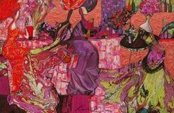 textur för oljemålning Roman Nogin författare samtal för ` s för serie`-kvinnor ` versionen för författare` s av färg Royaltyfri Bild