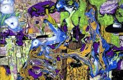 textur för oljemålning Roman Nogin författare samtal för ` s för serie`-kvinnor ` versionen för författare` s av färg Royaltyfria Bilder