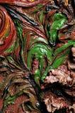 textur för oljemålningar Arkivfoton