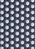 Textur för omvändning för läder för fotboll- eller fotbollboll vadderad arkivfoto