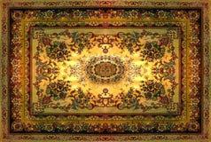 Textur för persisk matta, abstrakt prydnad Rund mandalamodell, mitt - östlig traditionell matttygtextur Turkos mjölkar Arkivbild