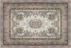 Textur för persisk matta, abstrakt prydnad Rund mandalamodell, mitt - östlig traditionell matttygtextur Turkos mjölkar Arkivbilder