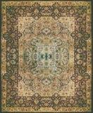 Textur för persisk matta, abstrakt prydnad Rund mandalamodell, mitt - östlig traditionell matttygtextur Turkos mjölkar Fotografering för Bildbyråer